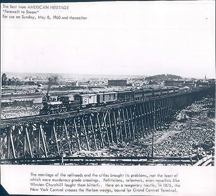 Amazon com: Vintage Photos 1960 Photo Railroads Cities Marriage