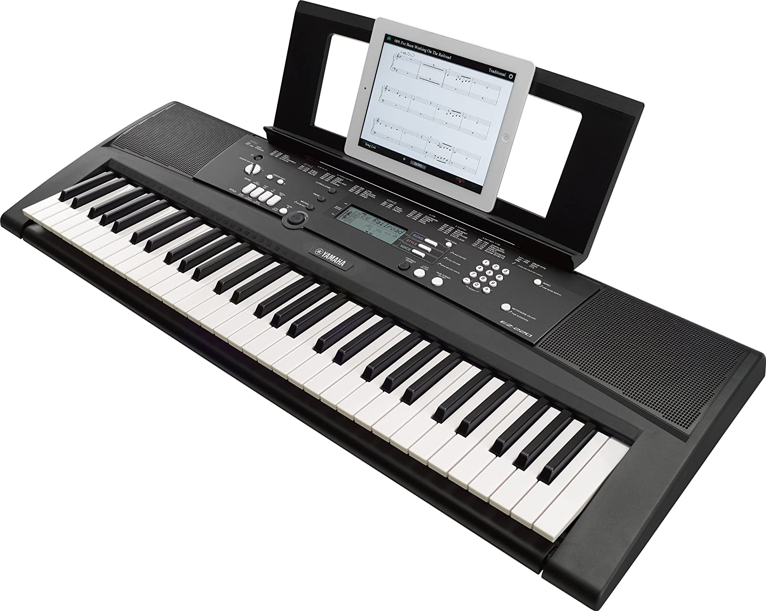 Yamaha piano keyboards images galleries with a bite for Yamaha portable grand dgx 220 electronic keyboard