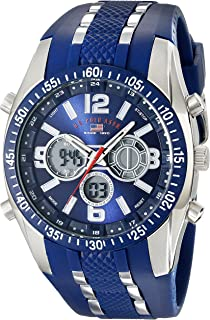 de054d059cd U.S. Polo Assn. Sport Men s US9284 Blue and Silver-Tone Analog Digital  Chronograph