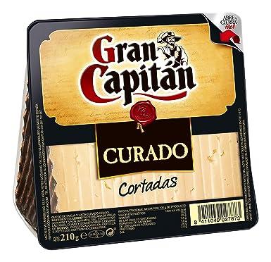 Gran Capitán Curado - Queso cortada de oveja y vaca, 210 g