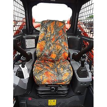 well-wreapped Durafit Seat Covers KU02 MC2 Orange KUBOTA