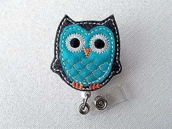 Lanyard Pick One Purple Blue Green Owl Retractable Reel ID Badge Holder