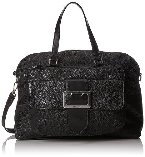 Tamaris Lee Business Bag, Women's Schwarz (Black Comb