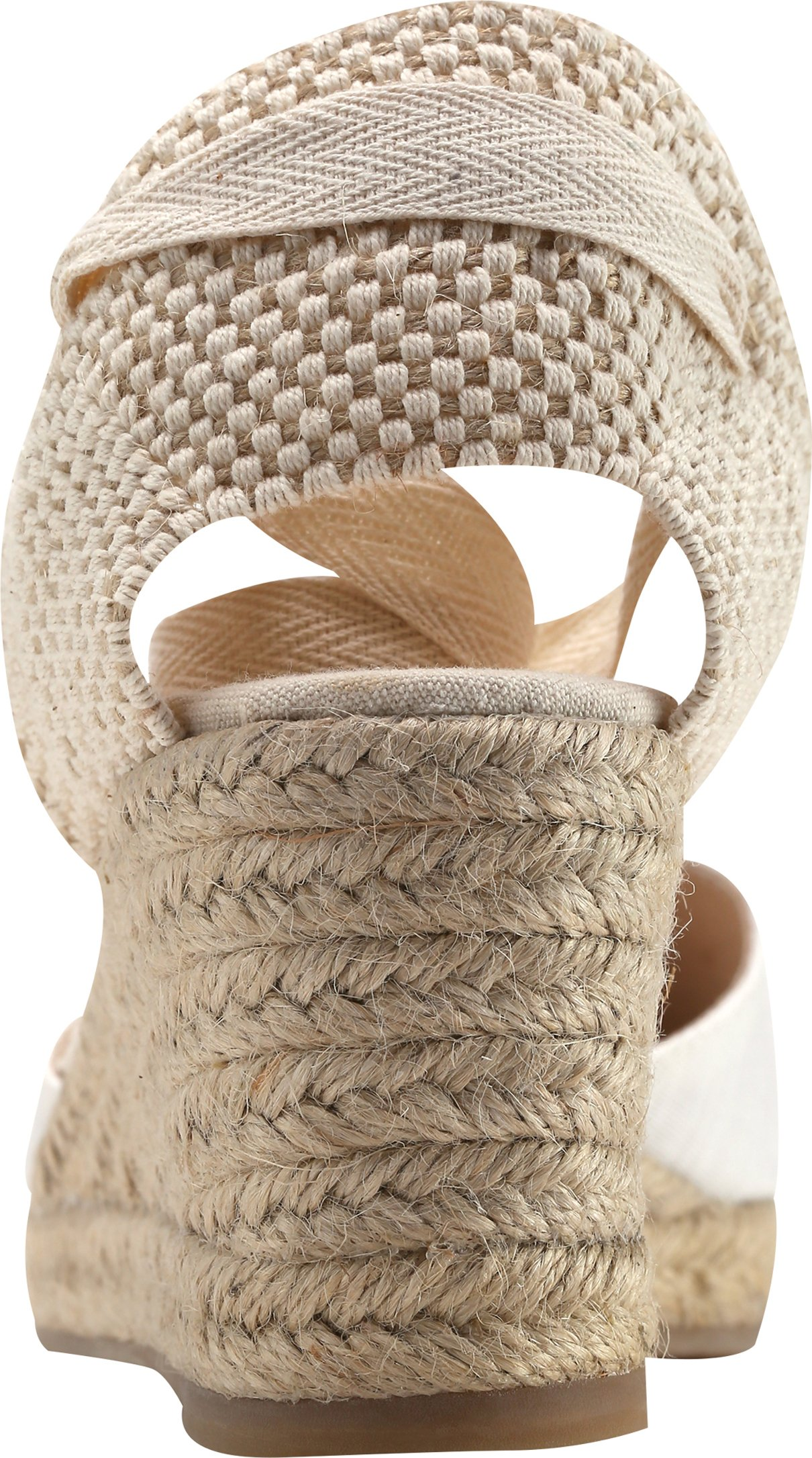 U-lite Women's Summer Leather Innersole Wedges Shoes, Ankle-Wrap Pompom Sandals White7 by U-lite (Image #2)
