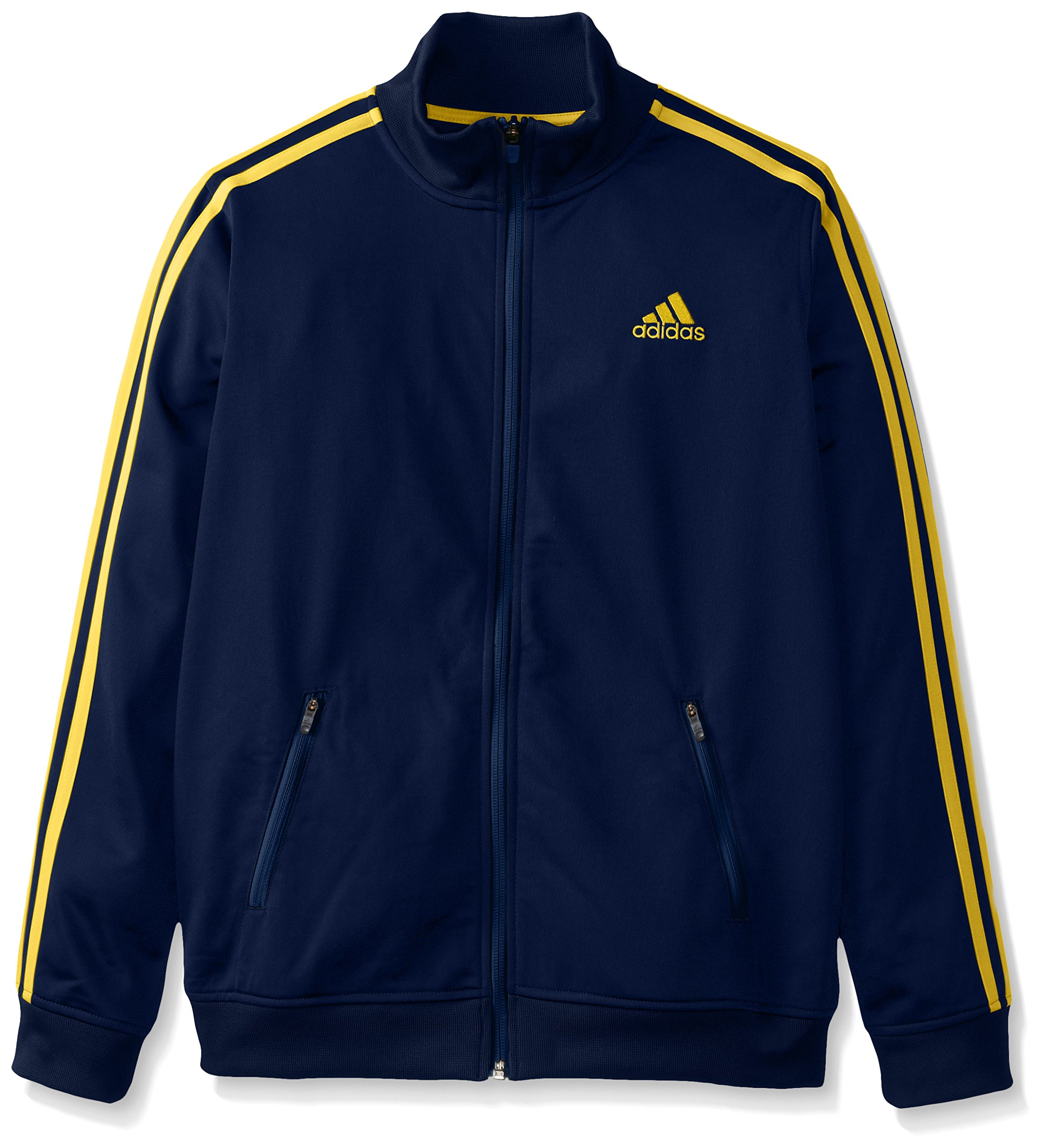 adidas Big Boys' Separates Training Track Jacket, Navy/Yellow, Small/8 by adidas