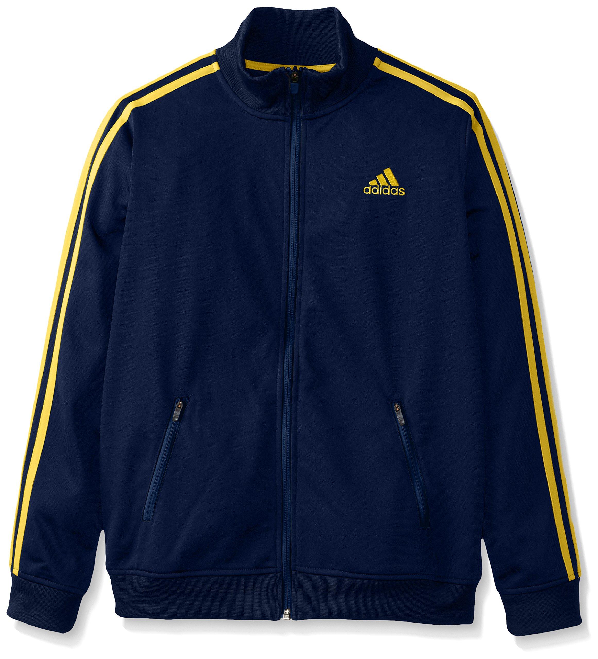adidas Big Boys' Separates Training Track Jacket, Navy/Yellow, Small/8