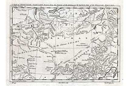 Amazon.com: History Prints Map of Central Asia & The Gobi ...