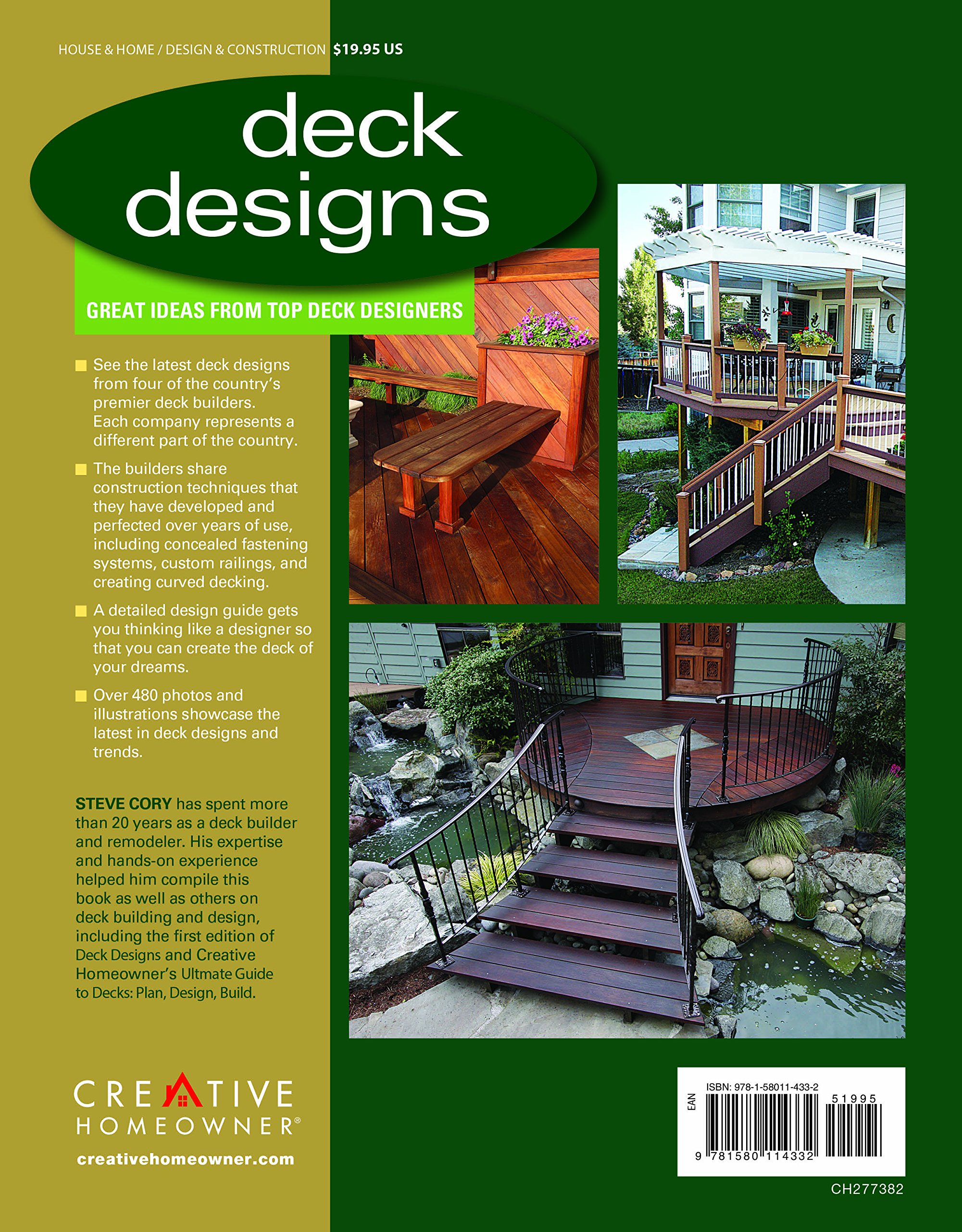 Amazon | Deck Designs: Great Ideas From Top Deck Designers | Steve Cory |  Design U0026 Construction