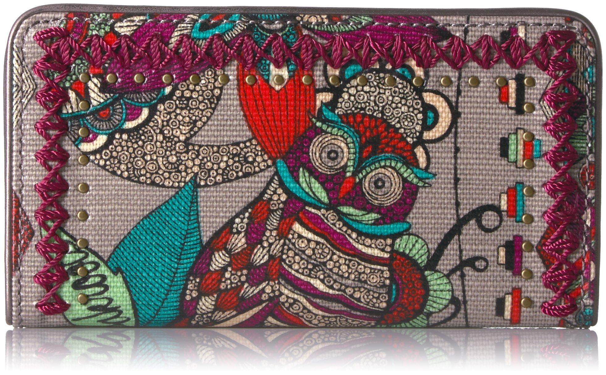 Sakroots Women's Artist Circle Slim Wallet, Charcoal Spirit Desert, One Size by Sakroots