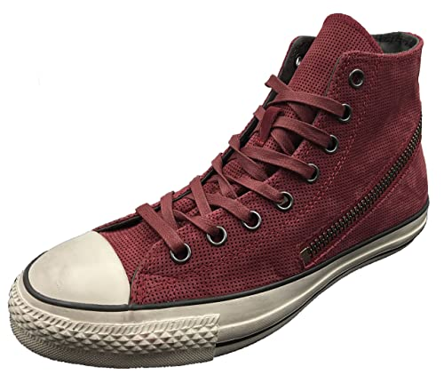 5f950fd2c919 Converse by John Varvatos Distressed Suede Leather Tornado Zip Sneaker Red  (10.5 D(M