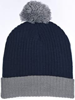 6685f9c5e55 Boys Traditional Knit Hat with Wraparound Cuff   Pom Pom Beanie 6 Color  Combos