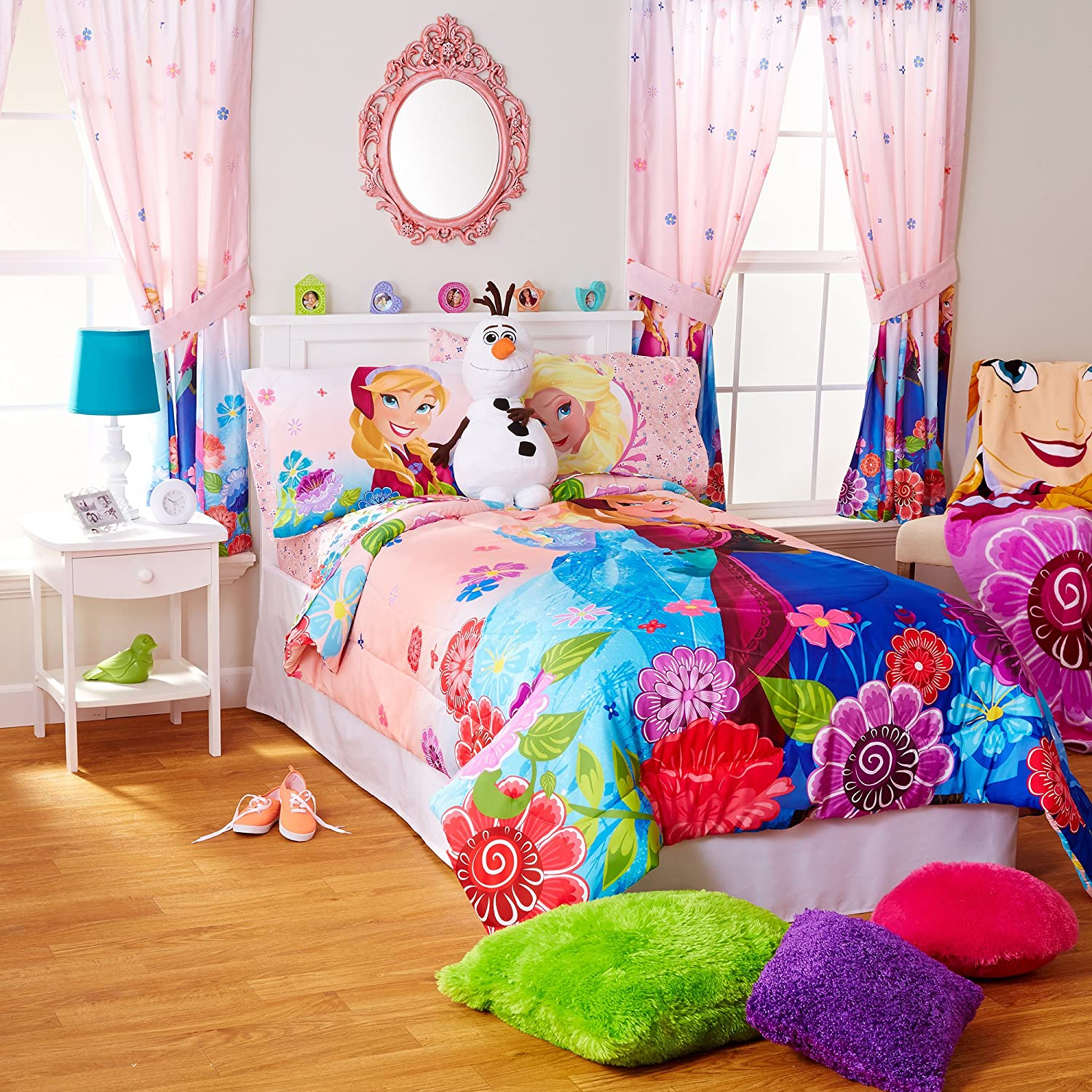 Amazon.com: Disney Frozen Full and Twin Sheets and Comforter Set ...