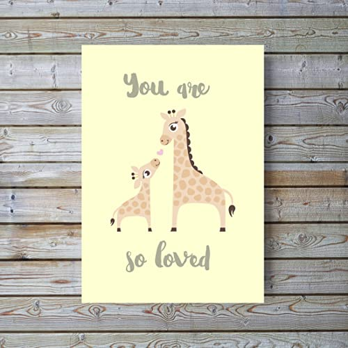 Giraffe Print Nursery Giraffe Picture Yellow Nursery Wall Art Gender ...
