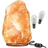 Large Himalayan Rock Salt Lamp Pink Crystal Natural Authentic Hand Carved Decor Lighting Dimmable –