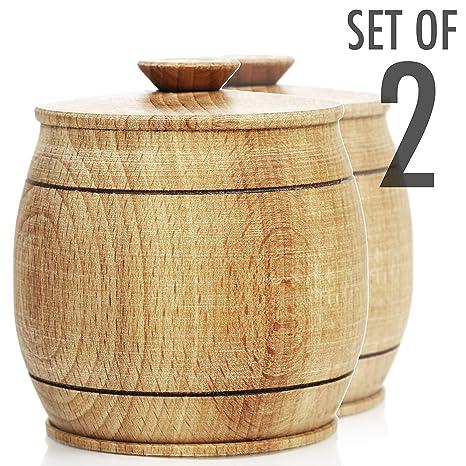 Amazon.com: Caja de sal de madera de Toros.: Kitchen & Dining