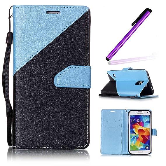 pretty nice 050fd 5557f Amazon.com: Galaxy S5 Wallet Case,Galaxy S5 Flip Case,Galaxy S5 ...