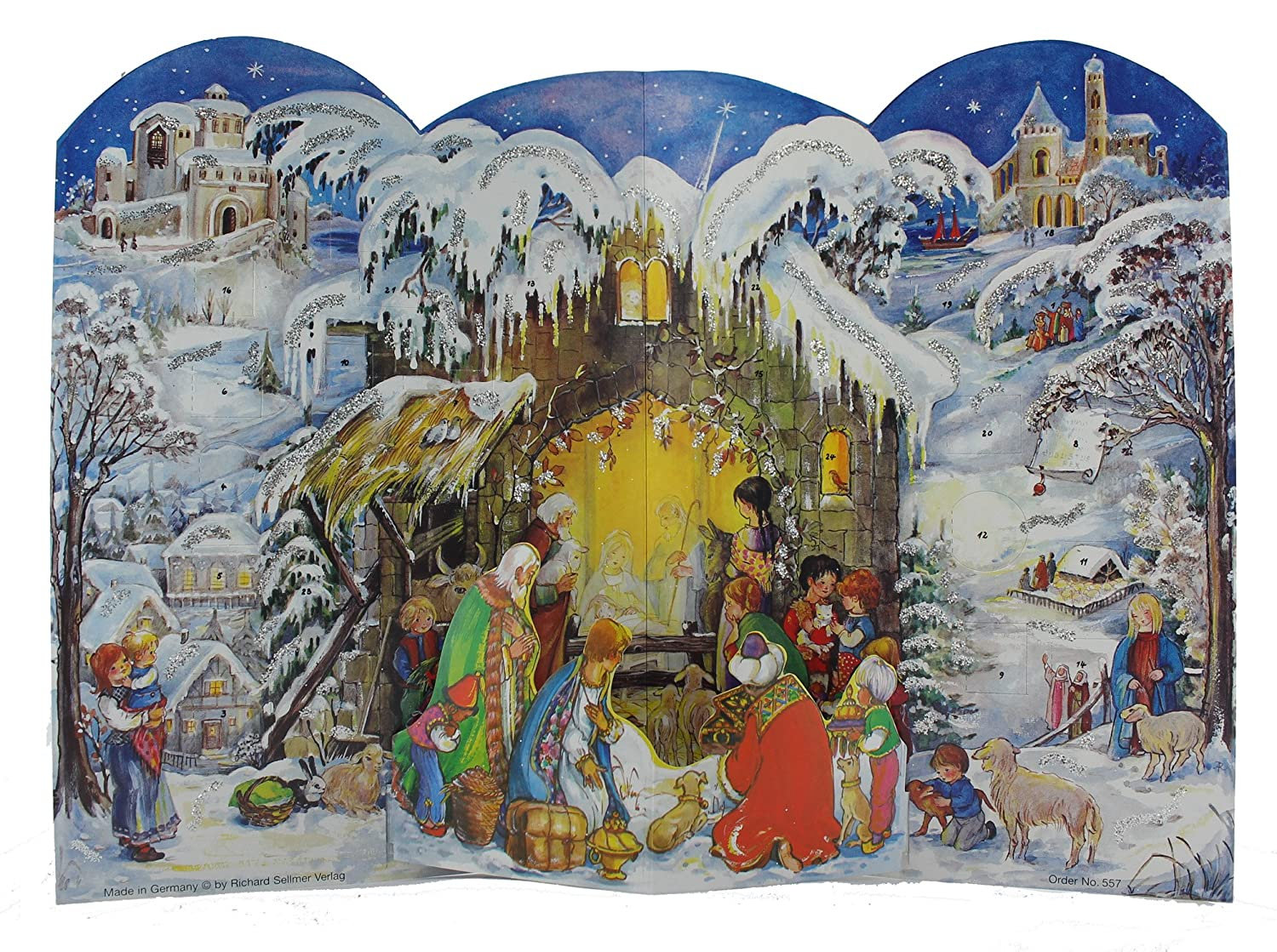 Sellmer 3-D Nativity Scene Advent Calendar Richard Sellmer Verlag 557