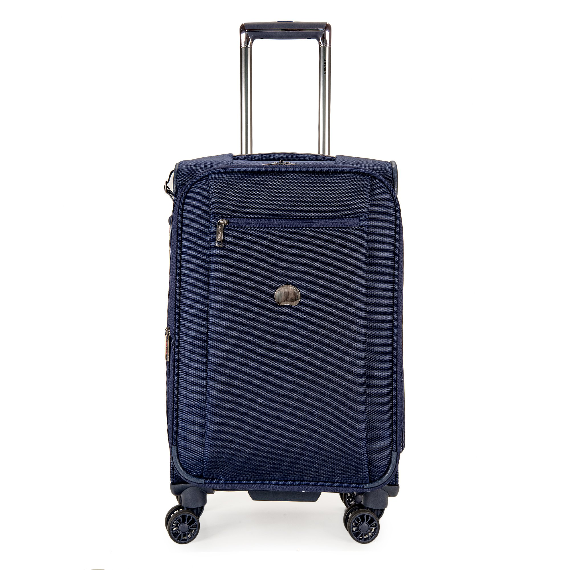 Delsey Luggage Montmartre 21 Inch Expandable Spinner Carry On Suitcase, Navy