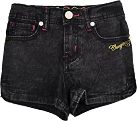 Coogi Toddler Girls Black Acid Jean Shorts