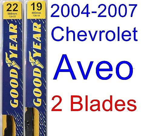 2004 – 2007 Chevrolet Aveo hoja de limpiaparabrisas de repuesto Set/Kit (Goodyear limpiaparabrisas
