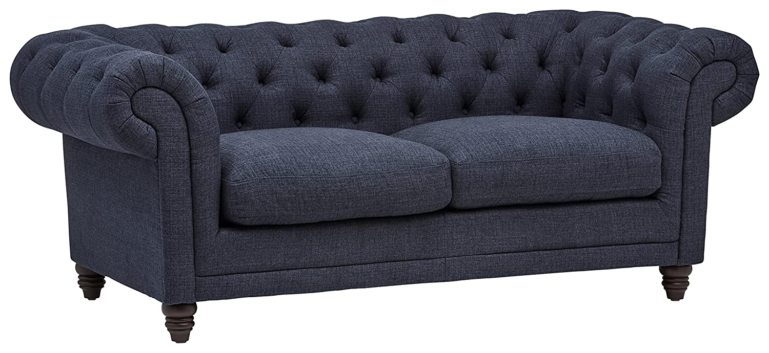 "Stone & Beam Bradbury Chesterfield Tufted Sofa, 79""W, Navy"