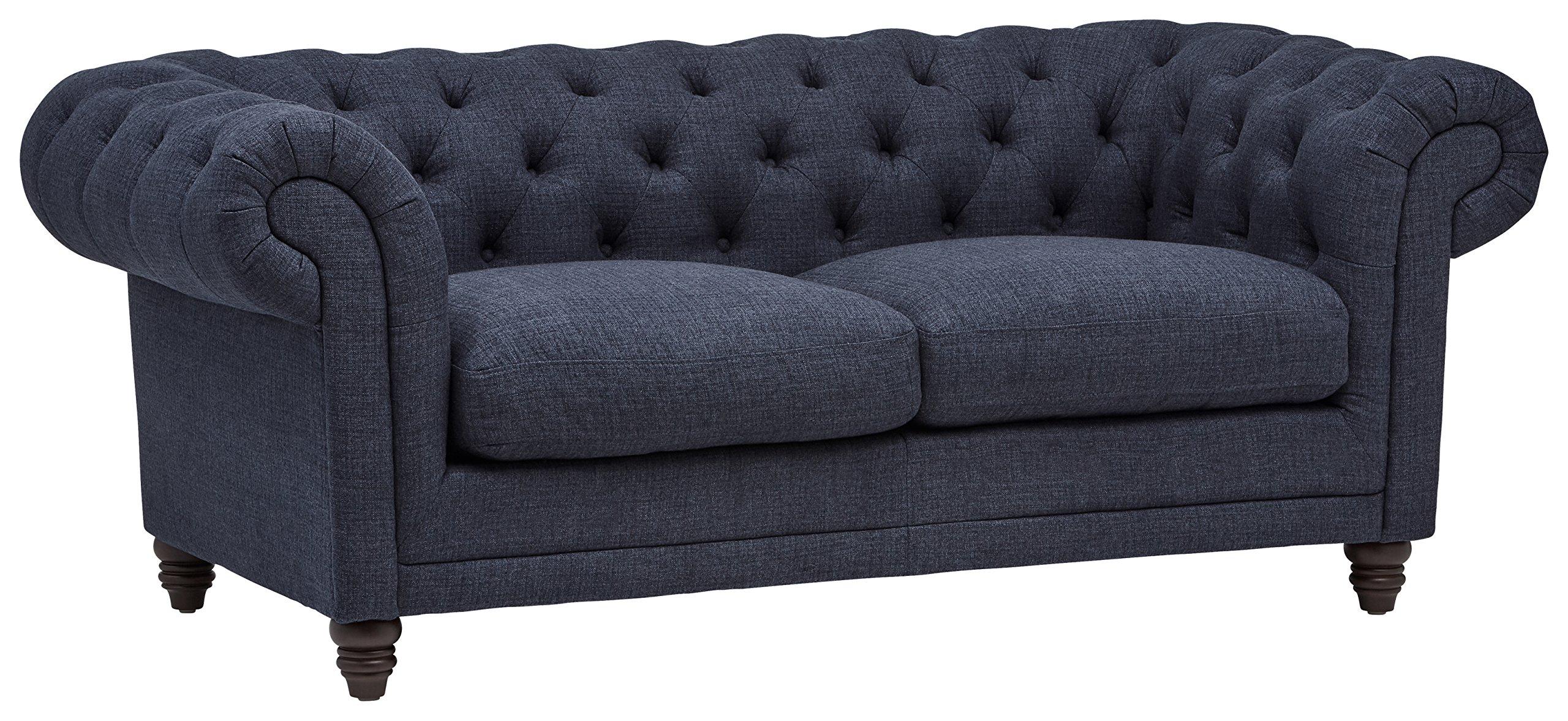 Stone & Beam Bradbury Chesterfield Tufted Sofa, 79''W, Navy
