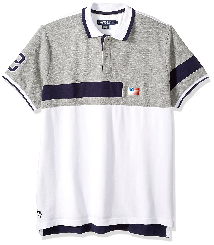 Mens Short Sleeve Classic Fit Fancy Pique Polo Shirt Polo Assn U.S