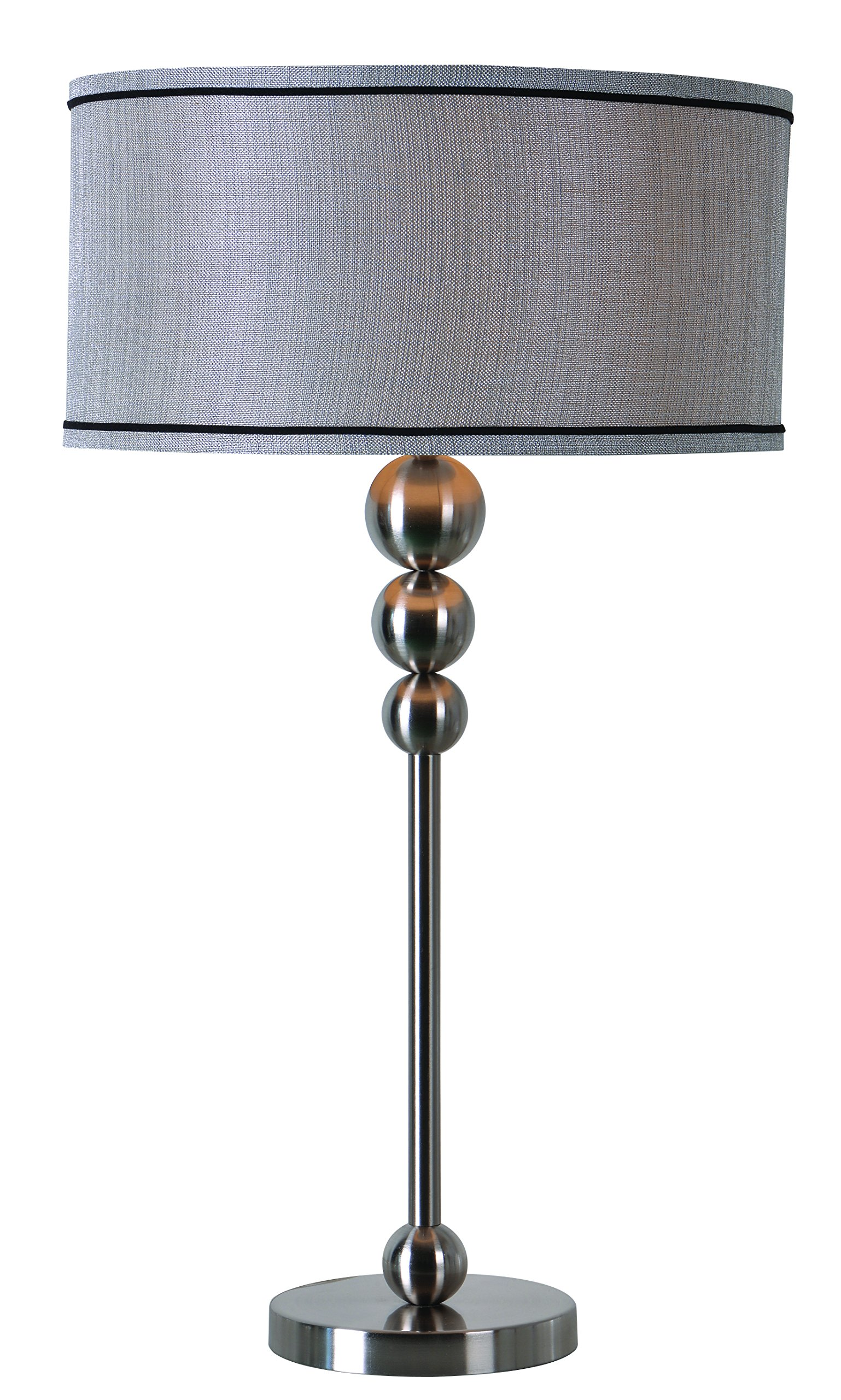 Kenroy Home Margot Table Lamp, Brushed Steel Finish