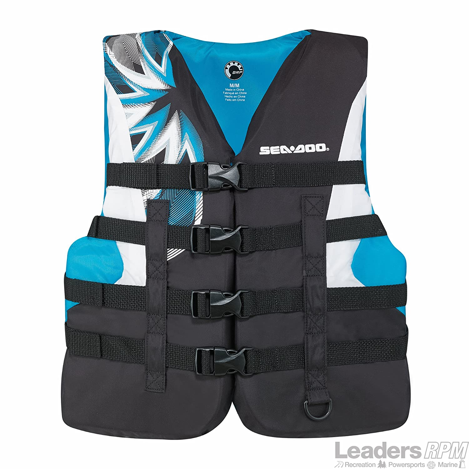 BRP Sea-Doo Women's 2015 Nylon Motion PFD Life Vest Jacket (X-Large, Aqua) by Sea-Doo