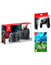 Nintendo Switch Konsole Grau 32Gb + The Legend of Zelda: Breath of the Wild + Nintendo Switch Pro Controller