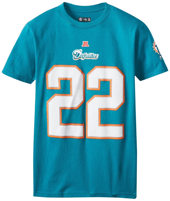 Amazon.com   NFL Mens Miami Dolphins Reggie Bush The Eligible Receiver Aqua  Short Sleeve Basic Crew Neck Tee (Aqua 6a0ac0c37