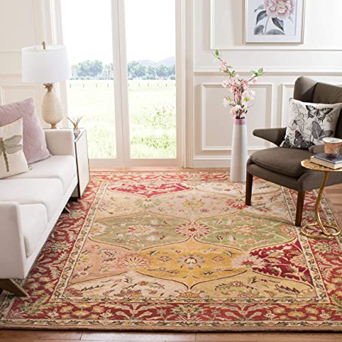 Safavieh Heritage Collection HG111A Handcrafted Traditional Oriental Multicolored Wool Area Rug 9 x 12