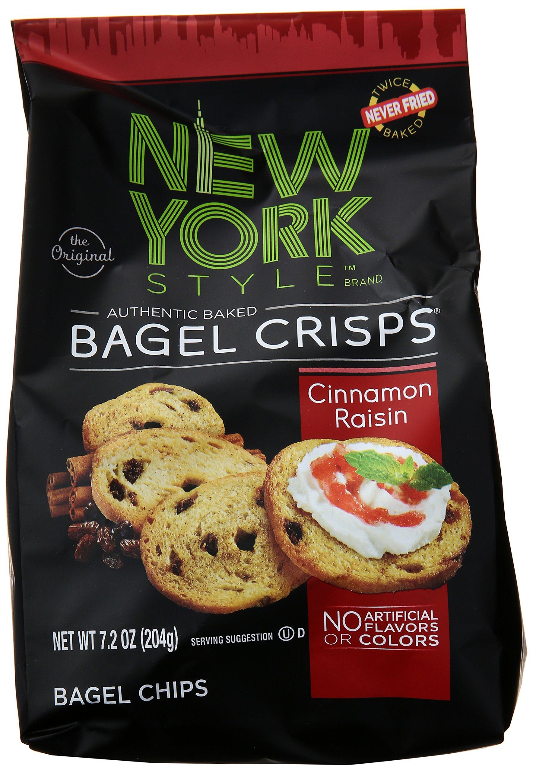 New York Style Bagel Crisps, Cinnamon Raisin, 7.2 Ounce by New York Style