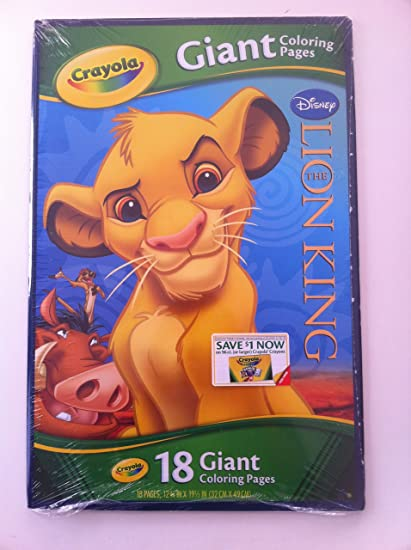 - Amazon.com: Disney Giant Coloring Pages: Lion King: Toys & Games
