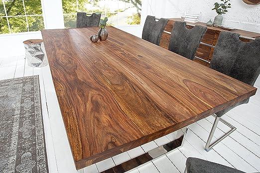 DuNord Design MAPIRI - Mesa de comedor (madera maciza de ...