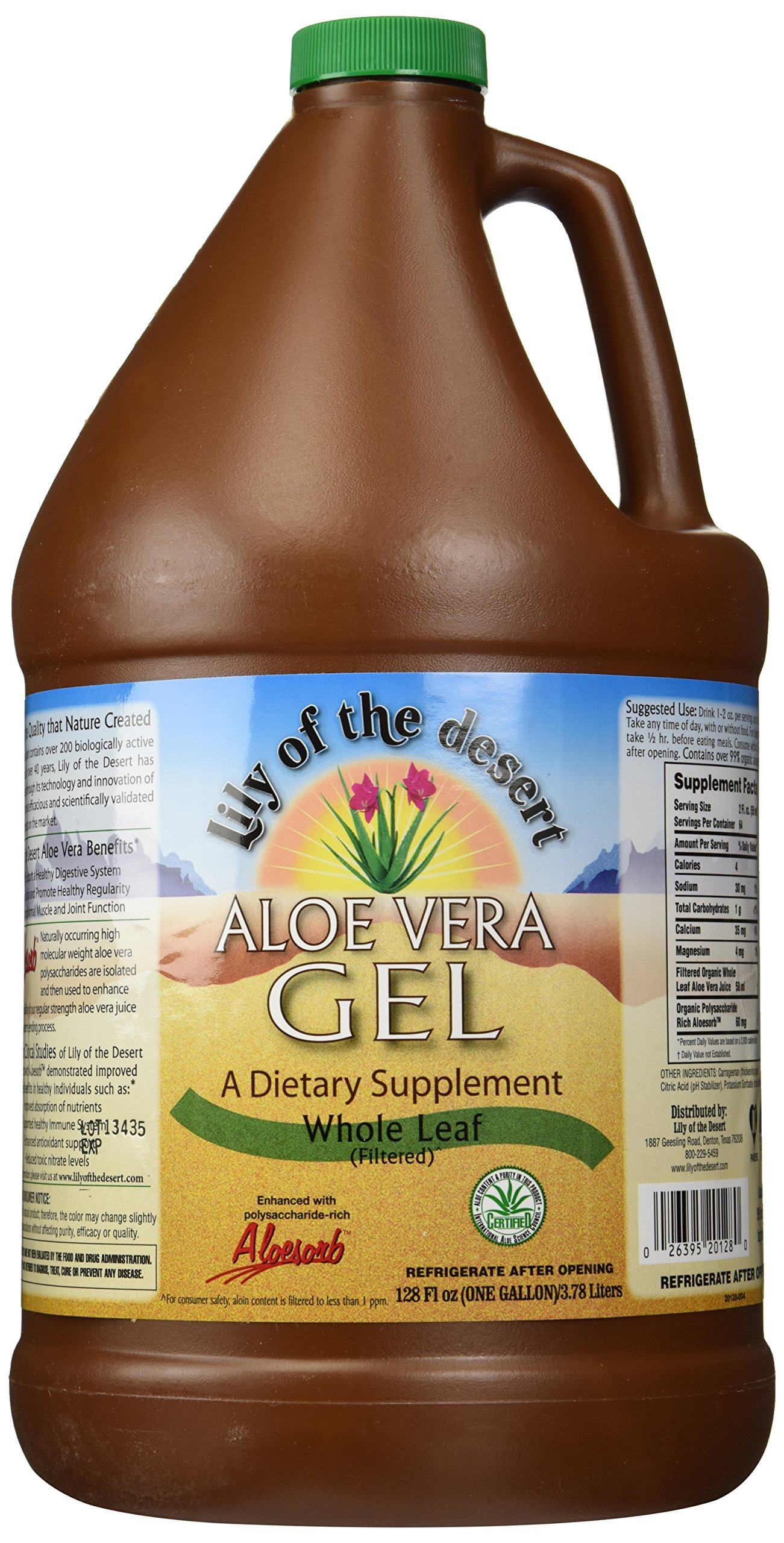 Lily Of The Desert Aloe Vera Gel Whole Leaf, 128 Fluid Ounce