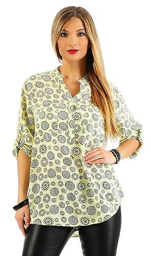 ZARMEXX fina camisa de manga larga camisa de Fisher regular de ajuste ligero de manga larga blusa de...