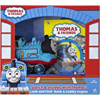 Thomas & Friends - Search & Snuggle with Thomas! - First Look and Find Book & Cuddly Plush - PI Kids