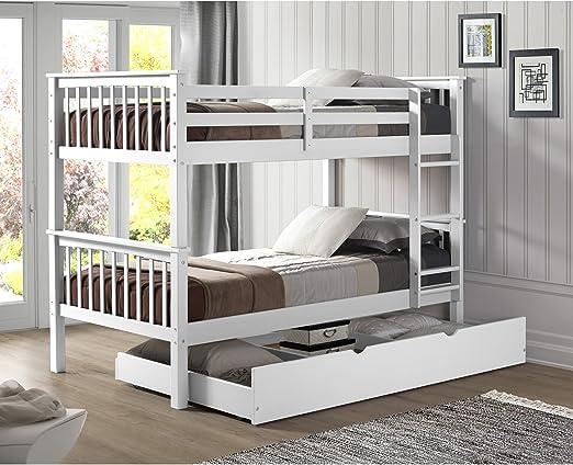 Amazon Com Walker Edison Furniture Company Solid Wood Twin Bunk