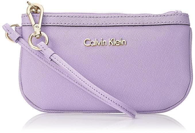Calvin Klein Saffiano cartera, Púrpura (Iris), Talla única