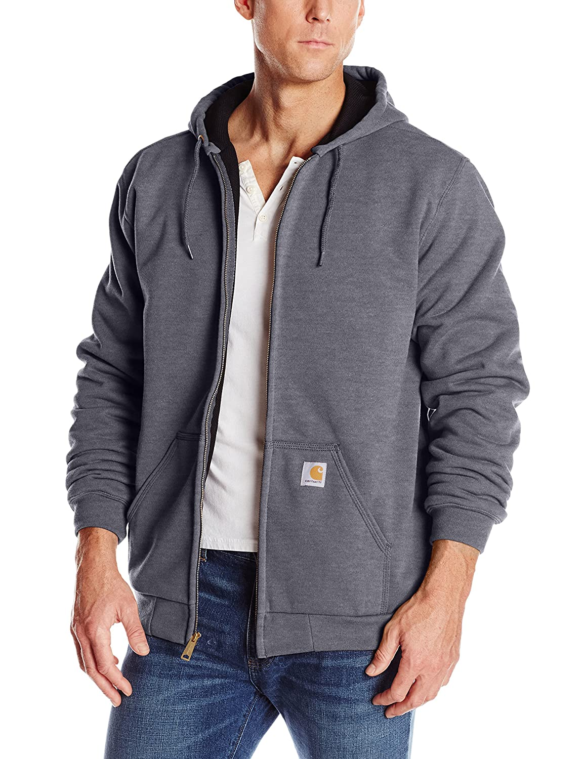 Carhartt Men's Big & Tall Rutland Thermal-Lined Hooded Zip-Front Sweatshirt Carhartt Sportswear - Mens 100632