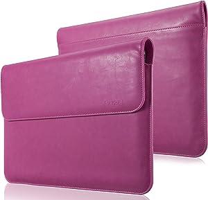 Kuzy - MacBook Pro 13 inch Sleeve Leather, 13 inch Laptop Sleeve Case for MacBook Air 13 inch Sleeve Case Cover (New Version) PU Leather Laptop Sleeve - Pink