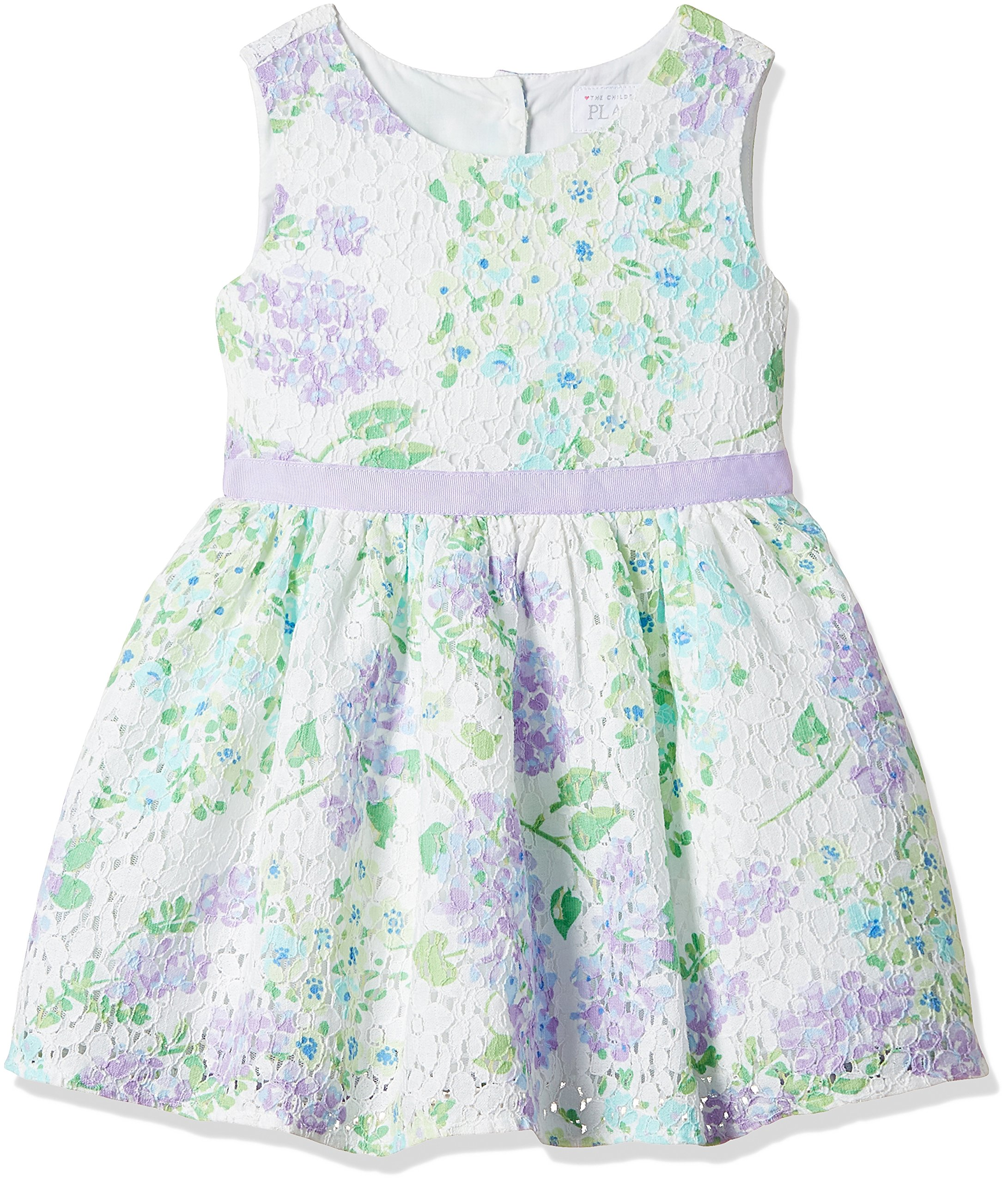 ec5cecf2b855 Galleon - The Children's Place Little Girls' Sleeveless Dressy Dresses,  Purple Ribbon 8173, 4