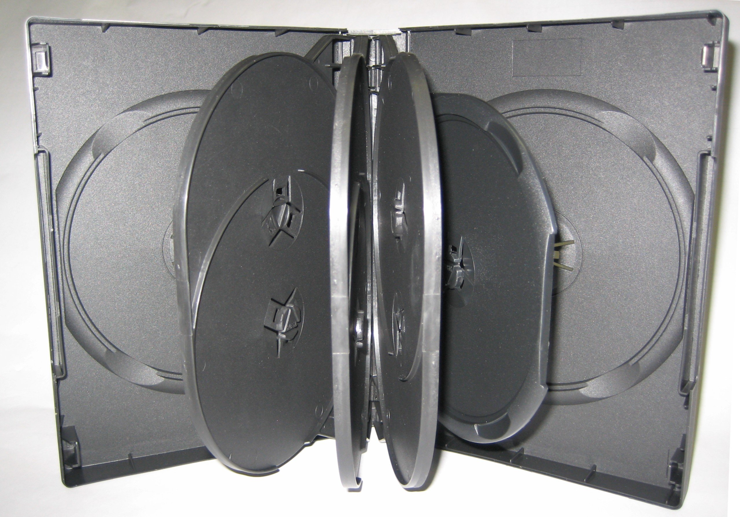 9 DISC DVD CASE, BLACK, 25 PCS/CASE, DH9