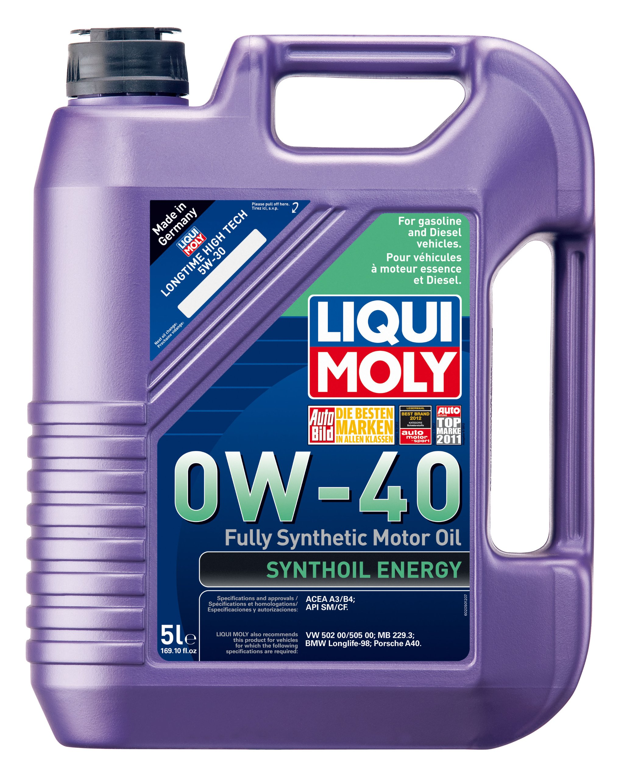 Liqui Moly 2050 Synthoil Energy 0W-40 Motor Oil - 5 Liter