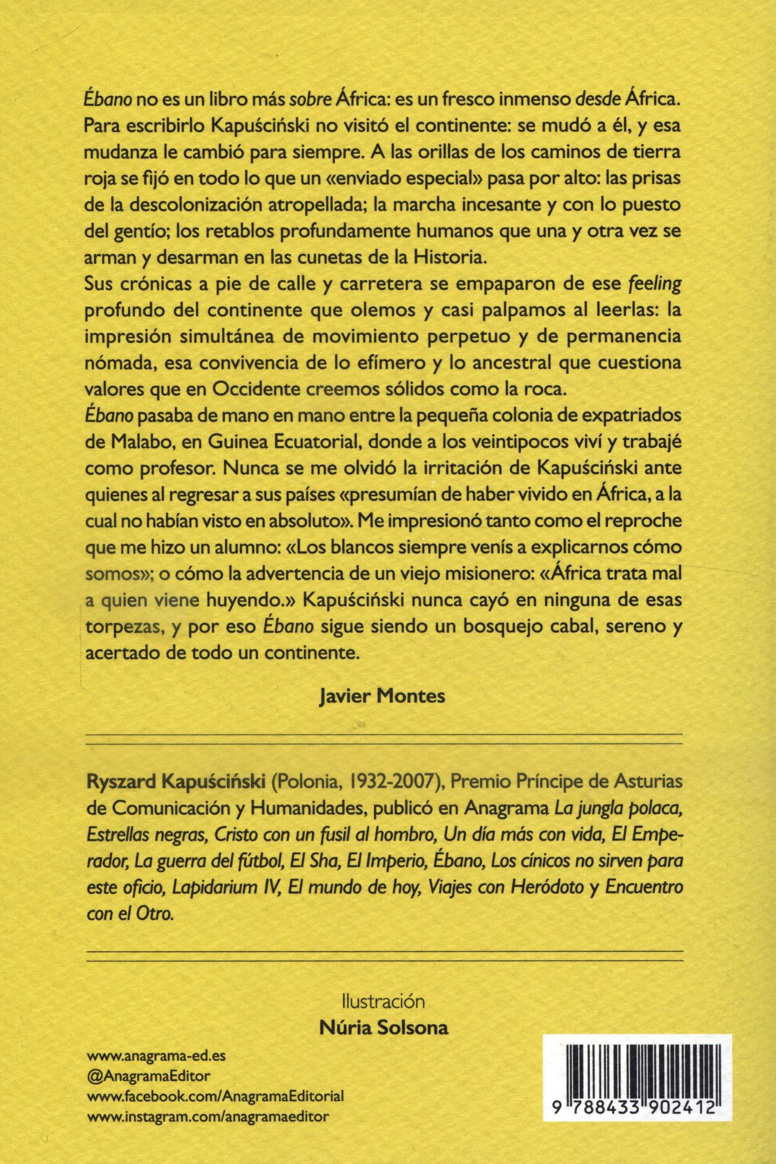 Ébano: 48 (Compactos 50): Amazon.es: Kapuscinski, Ryszard ...