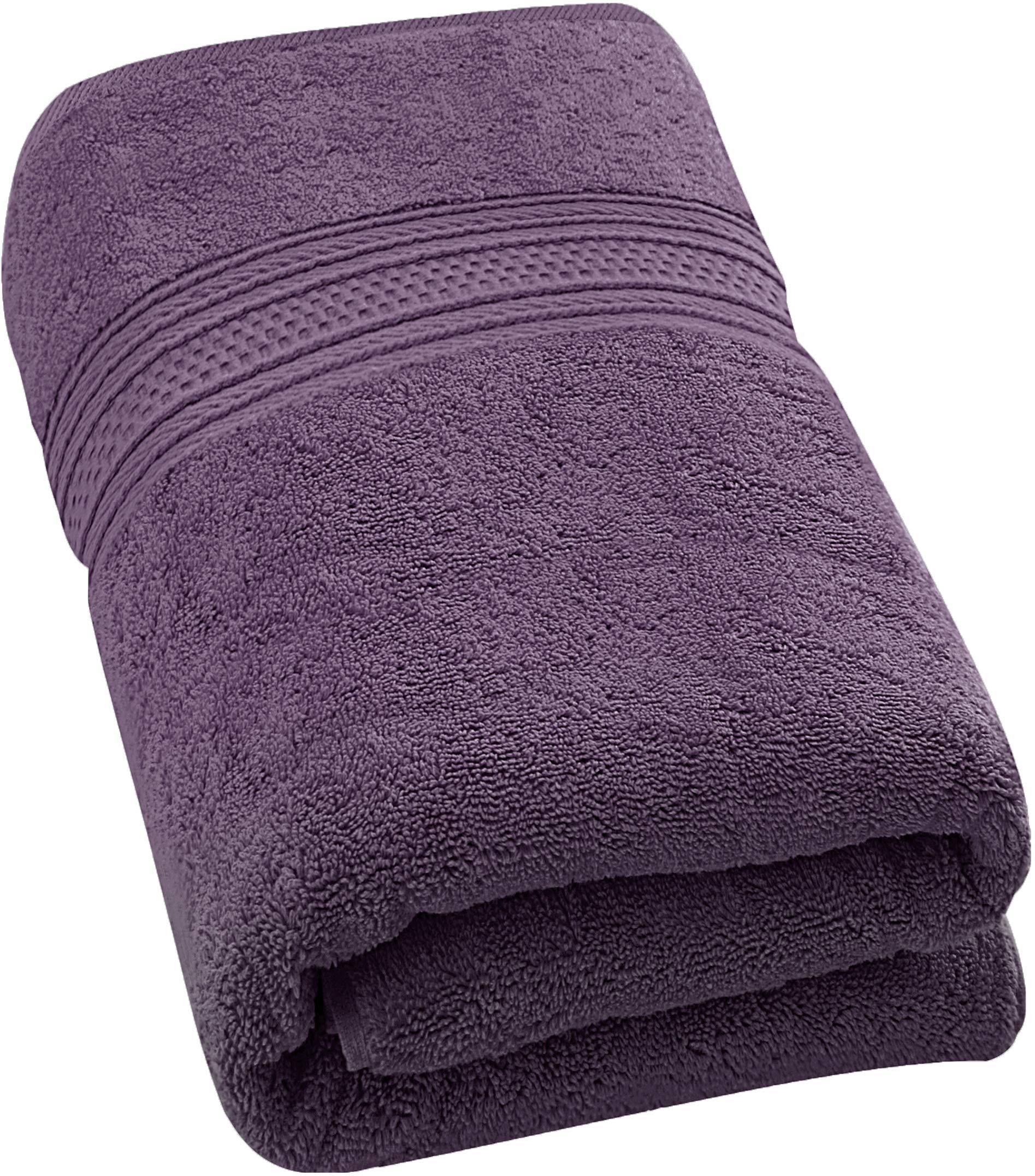 Utopia Towels 10 Pack 700 GSM Extra Large Bath Towels Bulk (35 x 70 Inches) Soft Luxury Bath Sheet, Plum