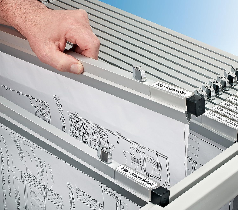 AdirOffice 18 Inch Aluminum Blueprint File Hanging Clamps Carton of 12