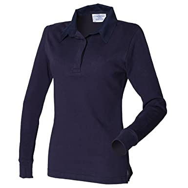 Front Row FR101 - Polo de Rugby Uni de Manga Larga Mujer Large ...