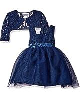 Blueberi Boulevard Baby Girls' Sparkle Netting Dress, Navy, 6/9 Months